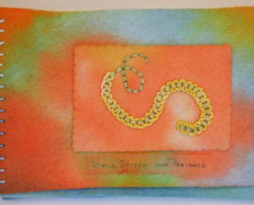 Patti Olds - back stitch and pekinese stitch