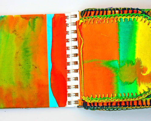 Sue Sehr Different stitches for effects on edges