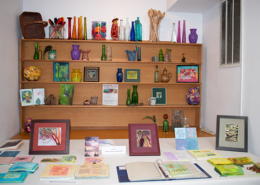 Display of art and color in the studio