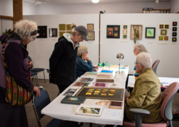 Viewing Penny Peter's Goldwork and Nancy Drake's bead embroidery