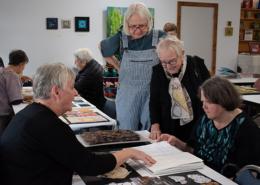 Barbara Fox describing her artistic process