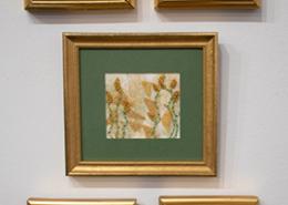 Goldwork on display by Christina Fairley Erickson and Gloria Shelton
